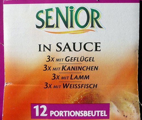Funny products: Senior in Sauce