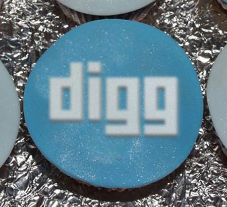 Digg cupcake