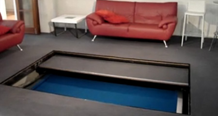 Disappearing Pool Table