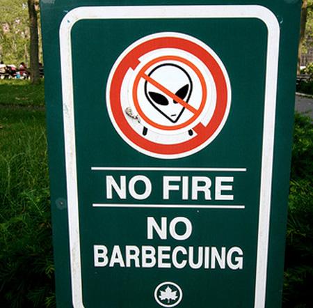 No alien BBQ