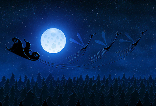 VladStudio Santa Flying 2 Wallpaper