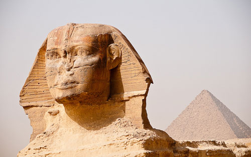 Egypt - Great Sphinx and Pyramid
