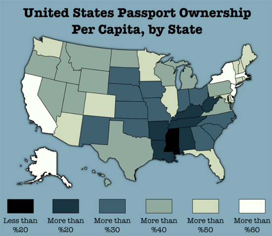 US Passport Ownership By State