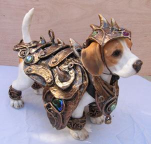 Dog in Armor Costume