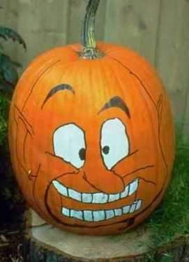 New post has been published on blog off the wall Funny pumpkin painting ideas