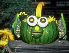 Green elf pumpkin