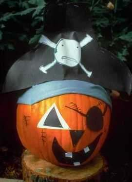 paint a pumpkin like a pirate