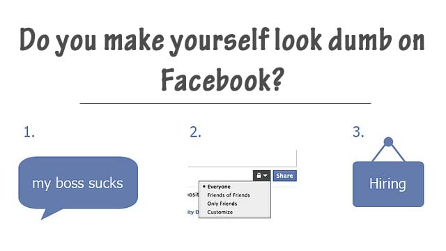 look dumb on Facebook